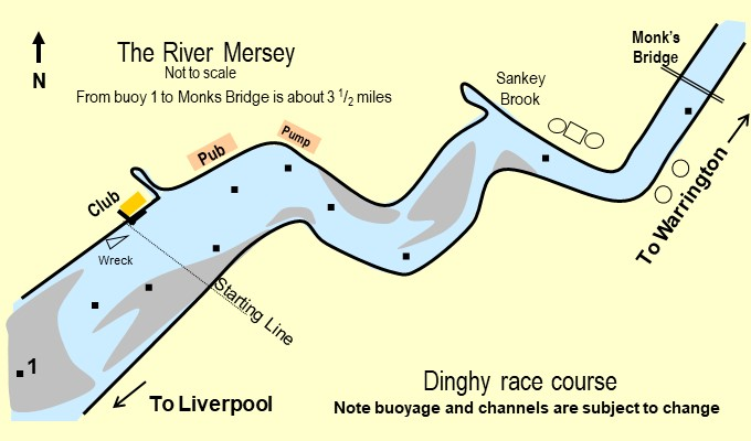 Course on the River Mersey from Penketh to Warrington